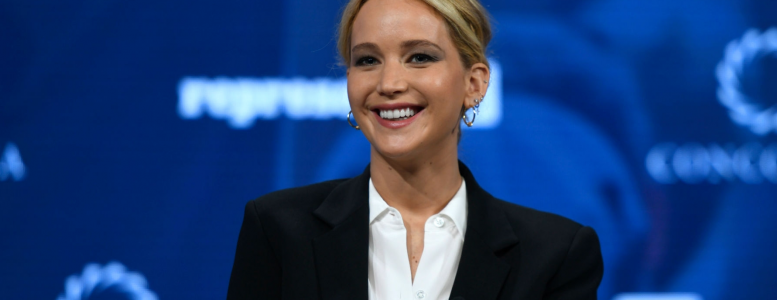 Jennifer Lawrence attends the 2018 Concordia Annual Summit